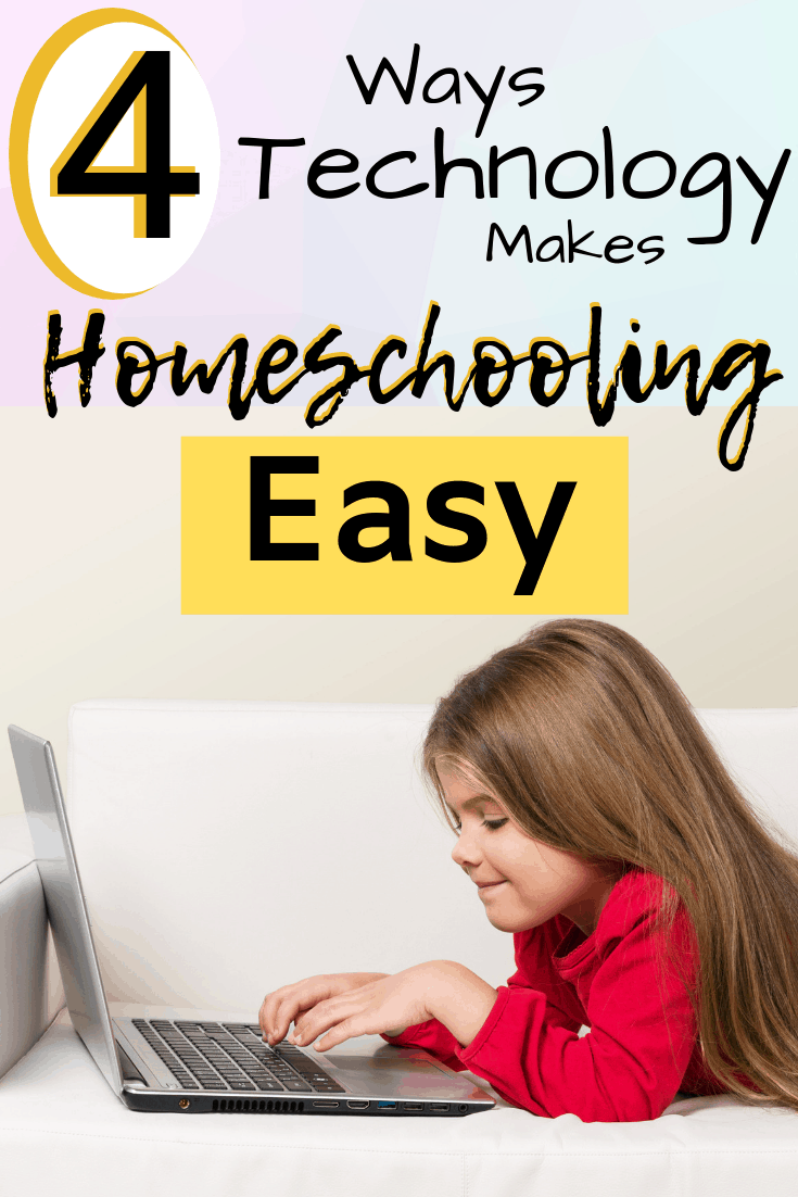 homeschooling multiple ages in a large homeschooling family is easy with technology in your homeschool