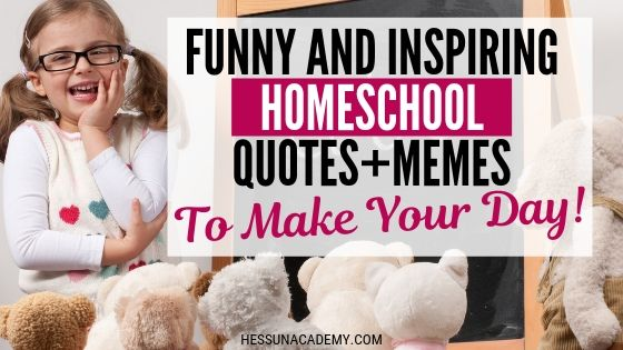 The Best Funny Homeschool Memes and Quotes of 2020 | Hess Un-Academy