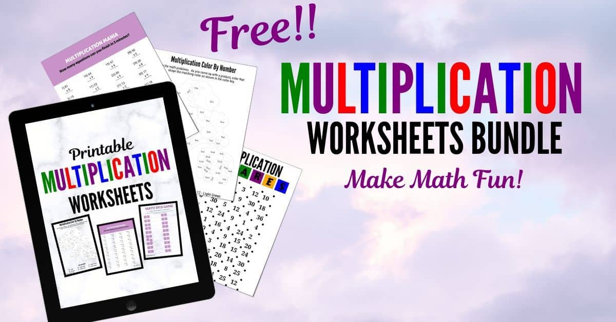 Fun + Free Printable Multiplication Worksheets Hess Un-Academy