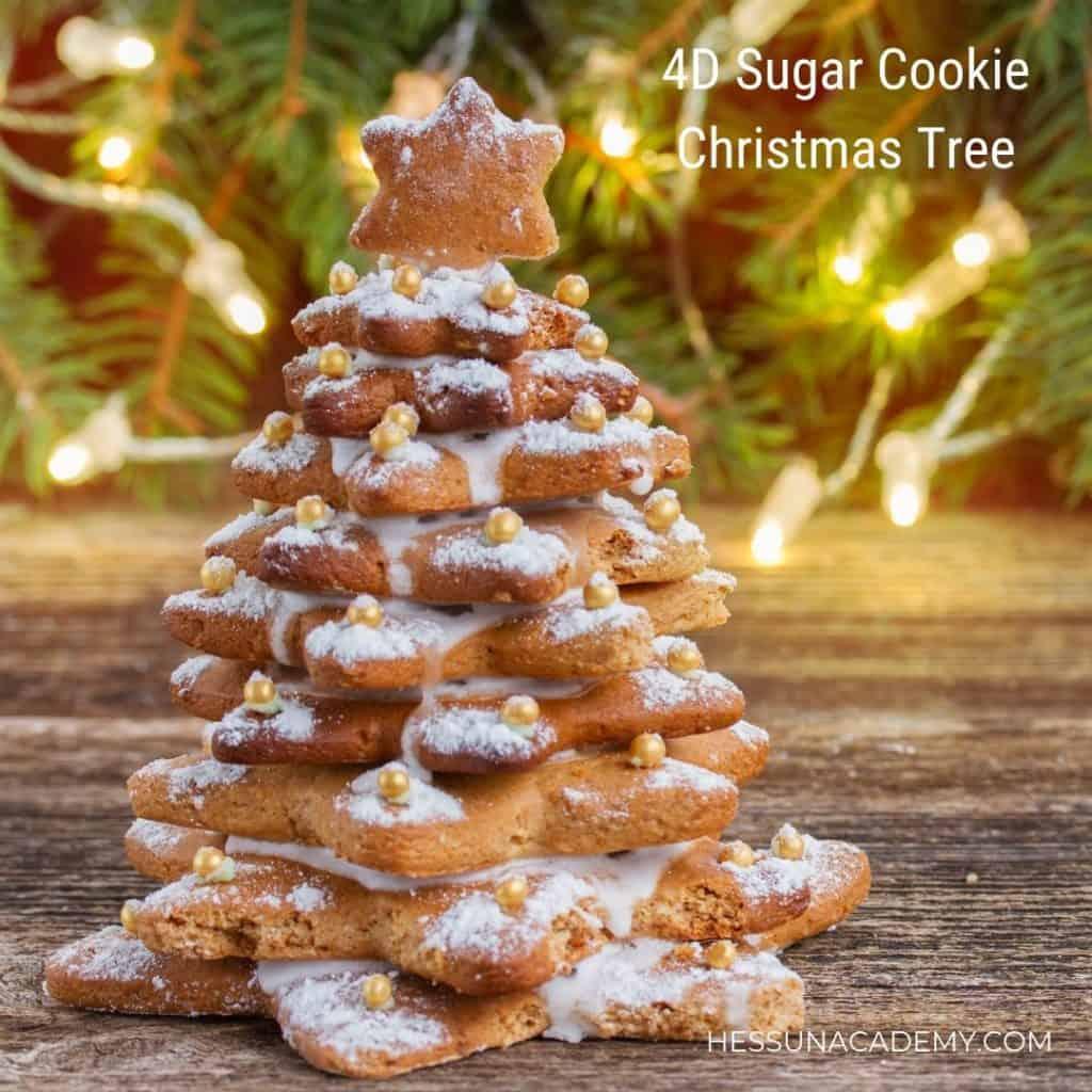 4D Sugar Cookie Christmas Trees