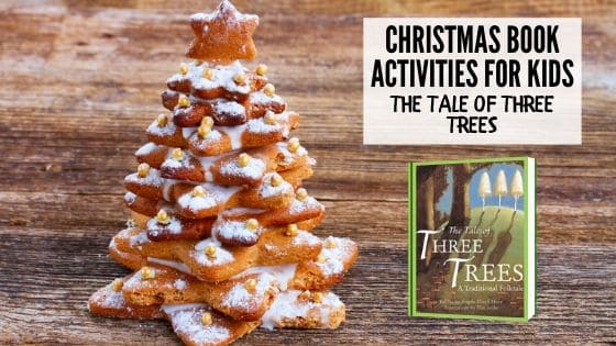 Stacked sugar cookie star and the tale of three trees Christmas book activity