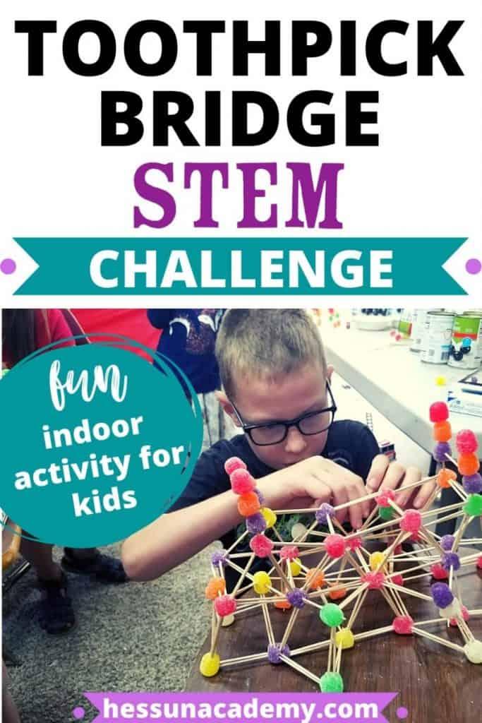 Toothpick Bridge Stem Challenge For Kids